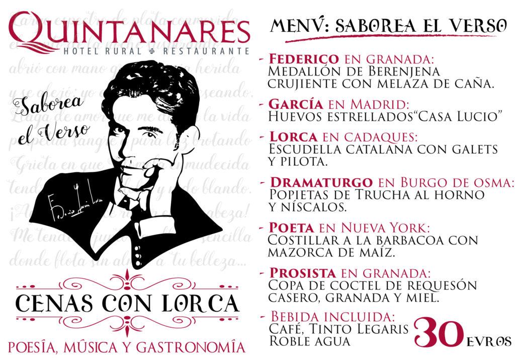 Menu Lorca Quintanares